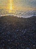 Costa el Mar Negro del guijarro Fotografía de archivo libre de regalías