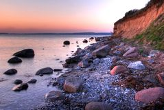 Costa em Dinamarca Foto de Stock Royalty Free