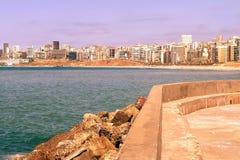 A costa em Líbia Imagens de Stock