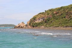 Costa em torno da ilha em Tailândia Imagem de Stock