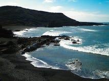 Costa en el EL Golfo, Lanzarote, islas Canarias Fotos de archivo