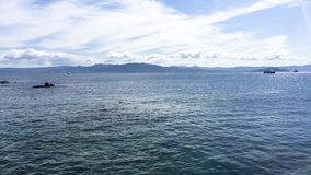 Costa en las islas de Cies almacen de video