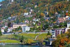Costa en Montreux Fotos de archivo libres de regalías