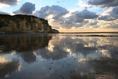 Costa en Normandía Fotografía de archivo