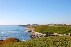 Costa en Santa Cruz, California Imágenes de archivo libres de regalías