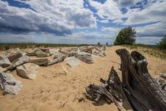 Costa escénica del verano de Manistique Michigan Imagen de archivo libre de regalías