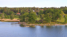 Costa escandinava del mar Báltico, Suecia almacen de video