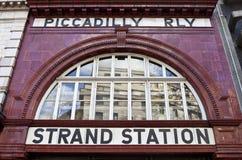 Costa/estação de Aldwych Foto de Stock