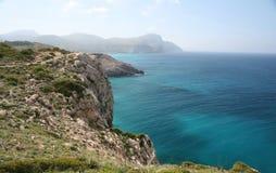 Costa este de Mallorca, España Imágenes de archivo libres de regalías