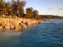 Costa este de Tinian Foto de archivo libre de regalías