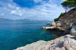 Costa este tropical hermosa de Majorca Foto de archivo