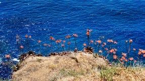 Costa europea del mar Mediterráneo Fotografía de archivo libre de regalías