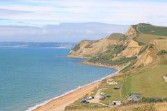 Costa a Eype, Dorset fotografia stock libera da diritti