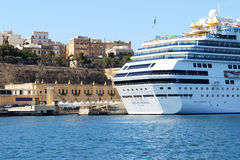 The Costa Fascinosa cruise ship with tourists is in harbour Stock Photos