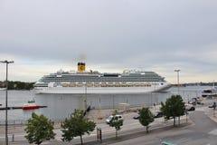 Costa Favolosa w Sztokholm zdjęcie royalty free