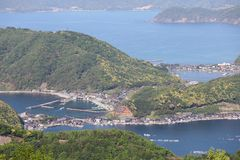 Costa costa Fukui Japón del mar de Japón Imágenes de archivo libres de regalías