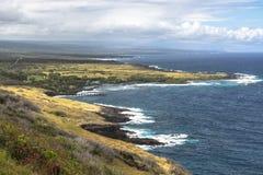 Costa grande da ilha, Havaí Foto de Stock Royalty Free