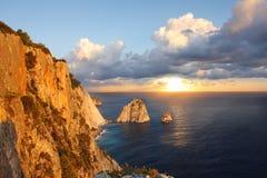 Costa greca nell'isola di Zakinthos fotografie stock