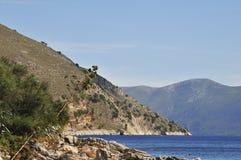Costa grega fotografia de stock royalty free