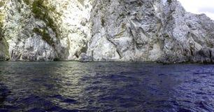 Costa costa griega - isla de Zakynthos/de Zante fotografía de archivo