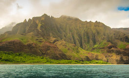 Costa Hawai del Na Pali Fotografie Stock Libere da Diritti