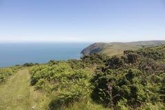 Costa costa hermosa de Devon England del norte fotografía de archivo libre de regalías