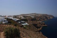 Costa hermosa de Santorini Imagen de archivo