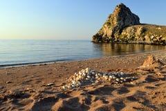 Costa hermosa del mar de Azov Fotografía de archivo