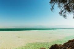 Costa hermosa del mar muerto imagen de archivo libre de regalías