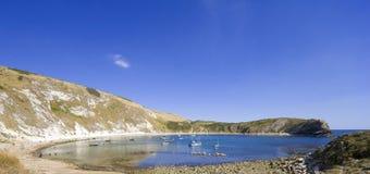 Costa Inglaterra de Dorset de la ensenada de Lulworth Imagenes de archivo