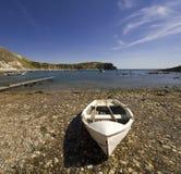 Costa Inglaterra de Dorset de la ensenada de Lulworth Foto de archivo libre de regalías