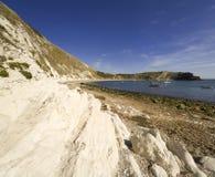 Costa Inglaterra de Dorset de la ensenada de Lulworth Fotos de archivo