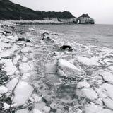 Costa Inglaterra de North Yorkshire da baía de Thornwick Fotos de Stock Royalty Free