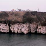 Costa Inglaterra de North Yorkshire da baía de Thornwick Imagens de Stock