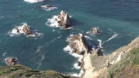 Costa irregolare di Big Sur stock footage