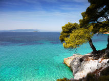 Costa, isla de Skopelos Foto de archivo