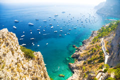 Costa italiana del mar Mediterráneo Imagenes de archivo