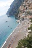 Costa italiana di Positano nella regione di Amalfi Immagini Stock