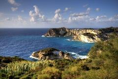 Costa italiana, ponza Fotos de archivo libres de regalías