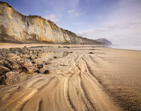 Costa jurásica de Dorset Imagenes de archivo