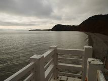 Costa jurásica en Sidmouth fotos de archivo