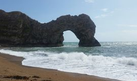 Costa jurássico de Dorset fotografia de stock