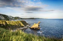 A costa jurássico em Dorset Imagens de Stock