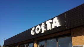 Costa kawy znak zdjęcia stock