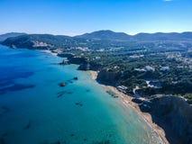 Costa leste da ilha de Ibiza, Espanha foto de stock