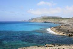 Costa leste de Mallorca, Mallorca, Espanha Imagens de Stock Royalty Free