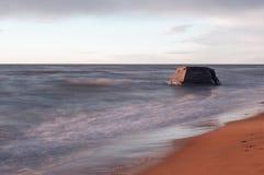 Costa lettone del Mar Baltico con Blockhouses Fotografia Stock Libera da Diritti
