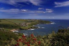Costa lindo de Inglaterra no verão Imagem de Stock