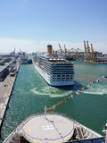 Costa Luminosa cruise ship in port of Barcelona Royalty Free Stock Photos