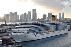 Costa Luminosa in Miami Stock Image